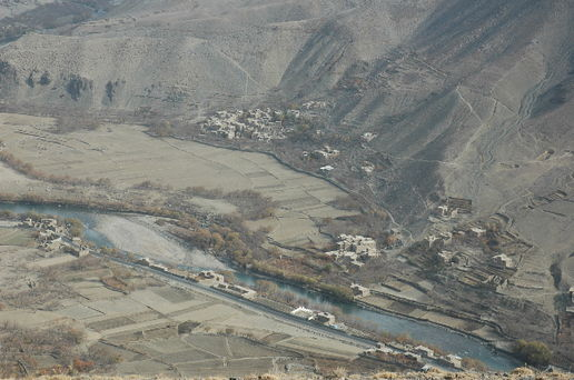 Looking down to the Panjshir Valley: