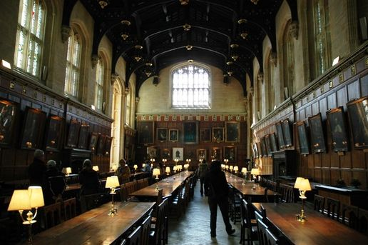Christ College Dining Hall: Christ College dining hall, as seen in Harry Potter