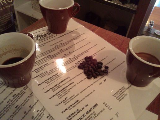 Cupping session: Trying the new brews at Croucher's bar