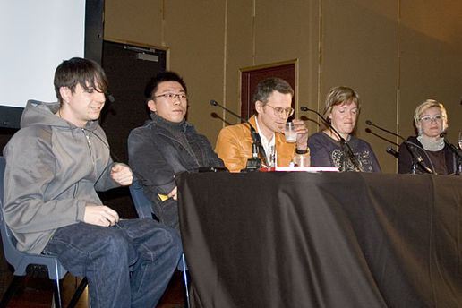 The Panel: Matt from Reality Compound, Justin Zhang, Peter McLennan, Robyn Gallagher and danah boyd