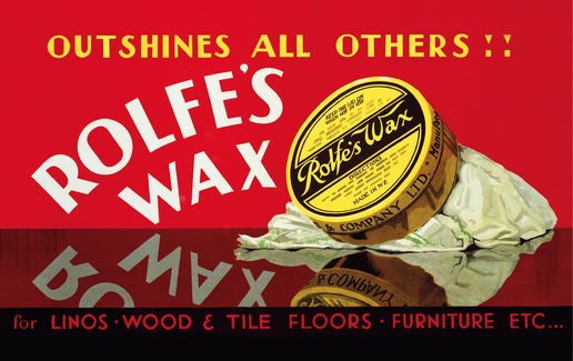 Rolfe's wax: Rolfe's wax, Chandler & Co (David Payne), c.1930