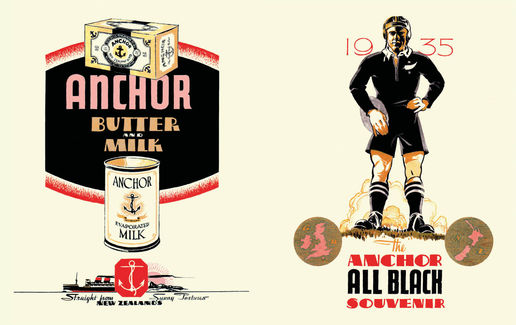 Anchor Butter: The Anchor All Black Souvenir, Gilbert Meadows, 1935.